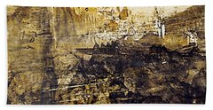 Bath Towel featuring the painting Fantasy In Sepia by Nancy Kane Chapman