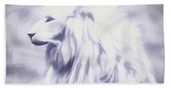 Fantasy White Lion Bath Towel