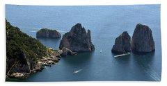 Faraglioni A Capri  Hand Towel