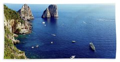 Faraglioni Rocks, Isle Of Capri Bath Towel