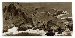 Farallon Island Lighthouse Pacific Ocean April 4, 1924 Hand Towel