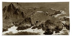 Farallon Island Lighthouse Pacific Ocean April 4, 1924 Bath Towel