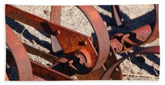 Hand Towel featuring the photograph Farm Equipment 4 by Ely Arsha