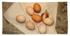 Farm Fresh Eggs Bath Towel