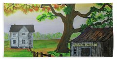 Hand Towel featuring the painting Farm Fresh Veggies by Jack G Brauer
