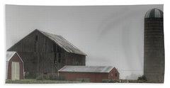 0011 - Farm In The Fog II Bath Towel