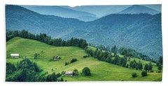 Farm In The Mountains - Romania Hand Towel