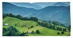 Farm In The Mountains - Romania Bath Towel