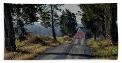 Bath Towel featuring the photograph Farm Lane by Robert Geary