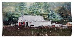 Hand Towel featuring the photograph Farm Life by Darren Fisher