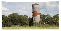 Farm Life - Retired Silo Hand Towel by Christopher L Thomley