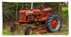 Bath Towel featuring the photograph Farmall Cub by Christopher Holmes