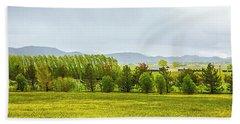 Farmers Crop Bath Towel by Nancy Marie Ricketts
