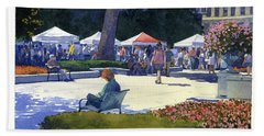 Farmers Market, Madison Bath Towel