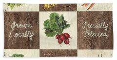 Farmer's Market Patch Hand Towel by Debbie DeWitt