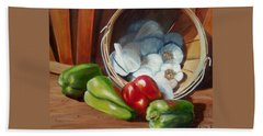 Farmers Market Bath Towel by Susan Dehlinger