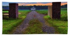 Bath Towel featuring the photograph Farmhouse Sunrise - Arkansas - Landscape by Jason Politte
