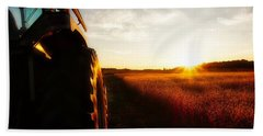 Farming Until Sunset Bath Towel