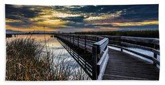 Farmington Bay Sunset - Great Salt Lake Hand Towel