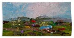 Farmland II Bath Towel by Judith Rhue