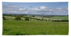 Farmland In Beecraigs. Bath Towel