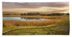 Farmland Pond Hand Towel