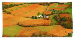Farms Can Be Seen From Pa At Hand Towel