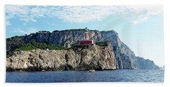 Faro Lighthouse - Ise Of Capri Bath Towel