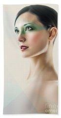 Bath Towel featuring the photograph Fashion Beauty Portrait by Dimitar Hristov