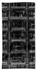Fashion Industrialism - Bw Hand Towel by James Aiken