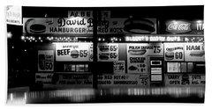 Fast Food Hand Towel by David Gilbert