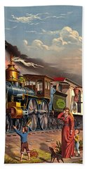 Fast Mail 1875 Hand Towel by Padre Art