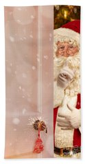 Father Christmas At The Door Hand Towel