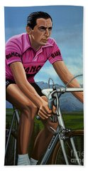 Fausto Coppi Painting Hand Towel