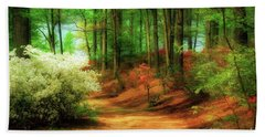 Favorite Path Hand Towel by Lois Bryan
