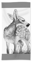 Fawn Hand Towel by Lawrence Tripoli