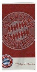 Fc Bayern Munich Logo And 3d Badge Hand Towel