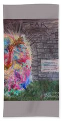 Fear Is The Prison... Hand Towel by Denise Hoag