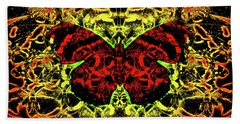 Fear Of The Red Admirals Bath Towel