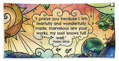 Fearfully And Wonderfully Made Hand Towel