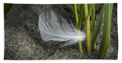 Feather And Beach Grass Hand Towel