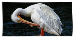 Feather Check Hand Towel by HH Photography of Florida