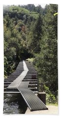 Feather River Flumes Hand Towel by Sara Raber