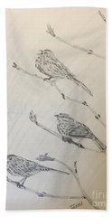 Feathers Friends Hand Towel