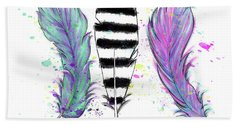 Feathers Hand Towel by Lizzy Love