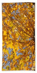 Feathery Fan Of Leaves Hand Towel by Christina Verdgeline