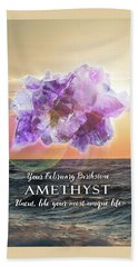 February Birthstone Amethyst Bath Towel