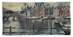February Morning Along The Amstel Hand Towel