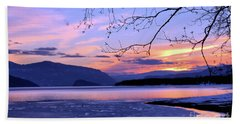 February Sunset 2 Hand Towel by Victor K