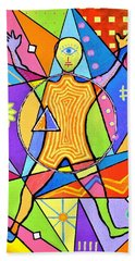 Feel The Vibes Hand Towel by Jeremy Aiyadurai